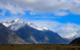 Snow Mount Cook in Summer Stock Image