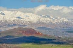 Snow on Mount Hermon, Golan Heights, Israel Royalty Free Stock Photo