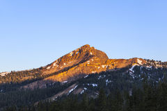 Snow on Mount Lassen Stock Photos