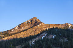 Snow on Mount Lassen Royalty Free Stock Photo