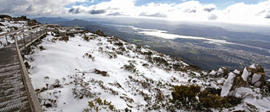 Snow on Mount Wellington, Hobart Stock Images
