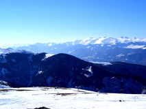 Snow Mountain......(1). Here are Romanian Moutains full of snow. In that winter snowed a lot Stock Images