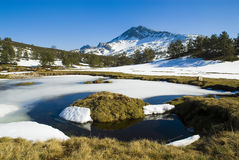Snow mountain Royalty Free Stock Images
