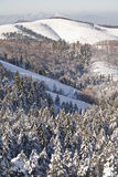 Snow in the mountain. A snowy lanscape in Peñas de Aia natural park, Gipuzkoa (Spain Royalty Free Stock Photo