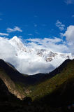 The snow mountain Stock Photography