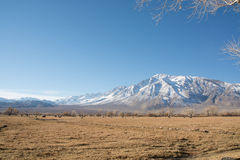 Snow Mountain. And sand in midday Royalty Free Stock Images