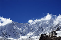 Snow mountain. In Tibet of China Royalty Free Stock Photography