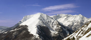 Snow mountain. View of Monti Sibillini (Le Marche - Italy Royalty Free Stock Photography