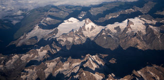 Snow mountain aerial Royalty Free Stock Photo