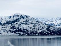 Snow Mountain along the Glacier Bay Stock Photo