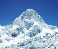 Snow mountain Alpamayo Stock Images