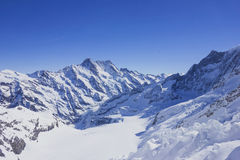 Snow mountain in Alps. Snow-covered mountain in swiss alps Royalty Free Stock Photo