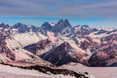 The snow mountain in the Alps Stock Photography