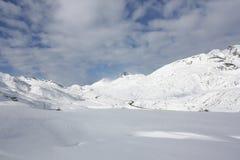 Snow mountain anayet, tena valley Royalty Free Stock Photography