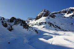 Snow mountain anayet, tena valley Royalty Free Stock Photo