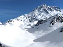 Snow mountain background Stock Photos