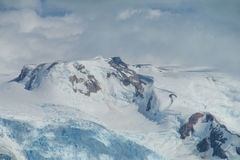 Snow mountain at bad weather Royalty Free Stock Photography