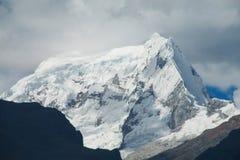 Snow mountain at bad weather Stock Photo