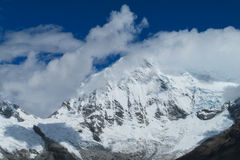 Snow mountain at bad weather Stock Image