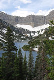 Snow mountain and bertha lake royalty free stock photos