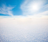 Snow mountain and blue sky Royalty Free Stock Photo