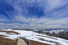 Snow mountain and blue sky at Blue Moon Valley, Shangri-La, Yunnan, China Stock Photography