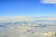 Snow mountain with blue sky Royalty Free Stock Photos