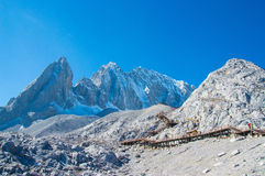 Snow Mountain in China. Jade Dragon Snow Mountain in China Royalty Free Stock Photos