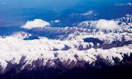 Snow mountain in china. Snow mountain in sichuan province of china Royalty Free Stock Photo