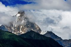 Snow Mountain in cloud Royalty Free Stock Images
