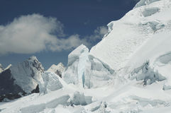Snow mountain Cordilleras in Peru Stock Image