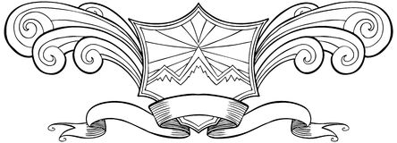 Snow Mountain Crest Stock Image