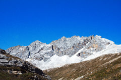 Snow mountain in Daocheng Yading Stock Photography