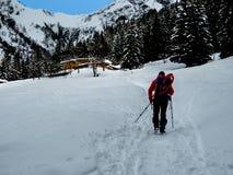 Snow and mountain Stock Photo