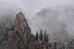 The snow Mountain on Fairly Meadow. Stock Photos