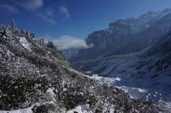 Snow Mountain in the forest Royalty Free Stock Photography