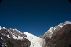 Snow mountain and glaciers Stock Photography