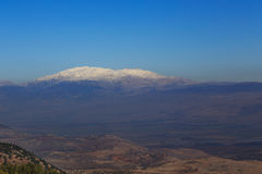 Snow mountain Hermon, Israel Royalty Free Stock Photo