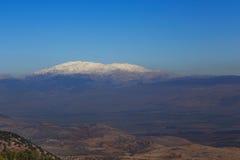 Snow mountain Hermon, Israel Royalty Free Stock Photo