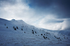 Snow mountain hill Stock Images