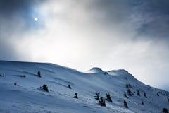 Snow mountain hill Stock Photo