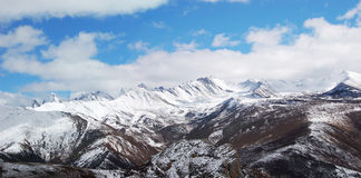 Snow mountain in huanglong Stock Image