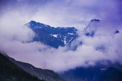 Snow mountain huanglong china Royalty Free Stock Photo