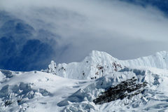 Snow mountain in Huascaran, Peru stock photography