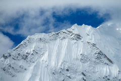 Snow mountain in Huascaran, Peru royalty free stock image