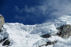 Snow mountain in Huascaran, Santa Cruz trek in Peru stock photos