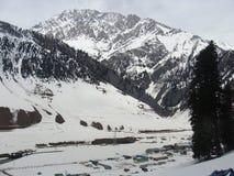 Snow mountain. Its photo of snow mountain at kashmir in India stock photos