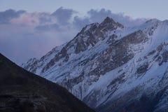 Snow mountain in Karakoram range in Hunza valley, Gilgit Baltist Stock Image