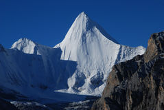 The snow mountain of Konka Risumgongba Royalty Free Stock Photography