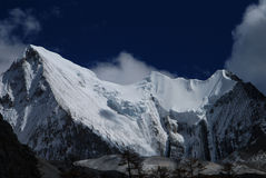 The snow mountain of Konka Risumgongba Royalty Free Stock Photos